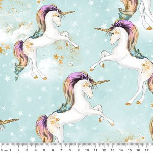 Rainbow Unicorns - Small Unicorns Aqua