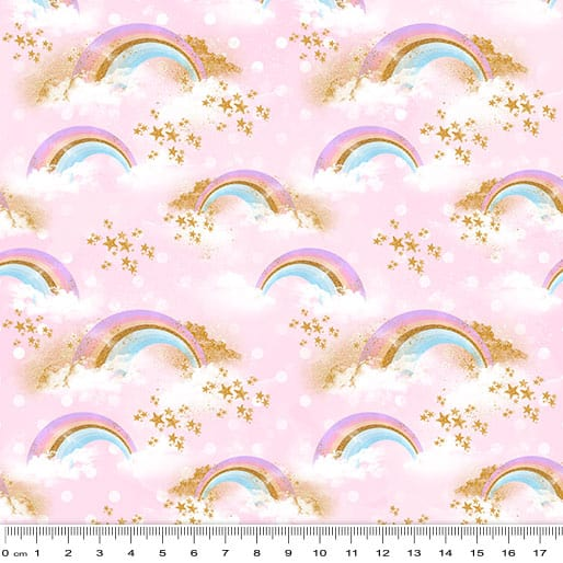 Rainbow Unicorns - Little Rainbows on Pink