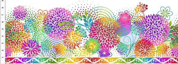 Unusual Garden 2 - Kaleidoscope Quilt Kit - White