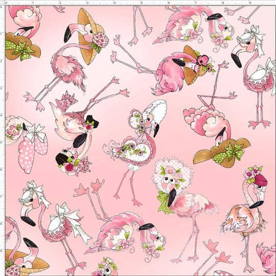 Flamingo Fancy - Allover