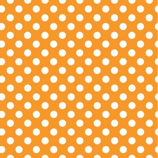 Orange and White Dot