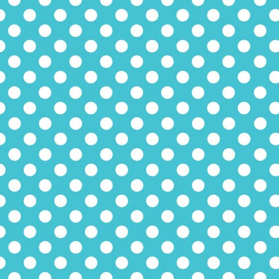 Turquoise and White Dot