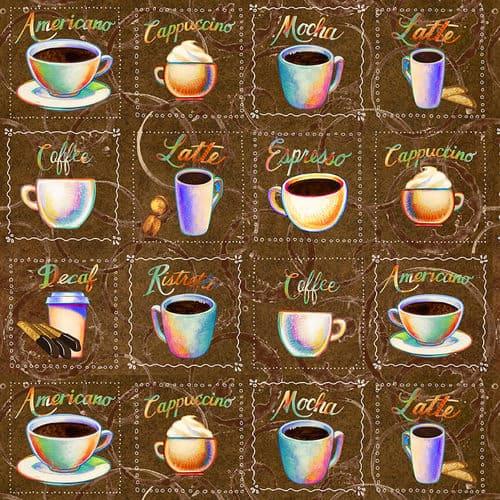 Brewed Awakenings - Coffee Cup Squares