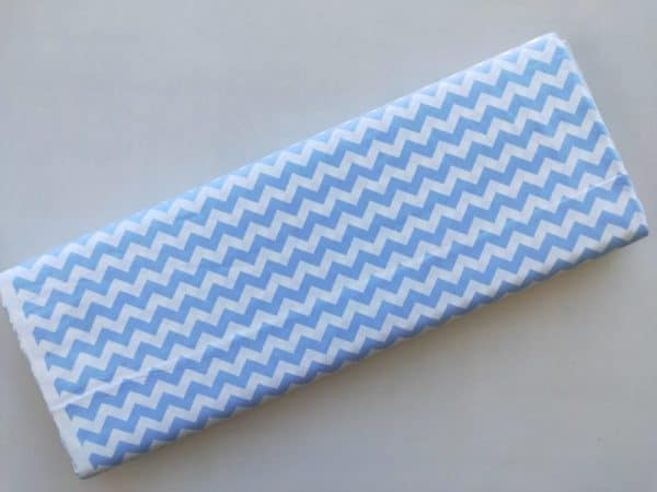 Spots n Stripes - Light Blue Chevron