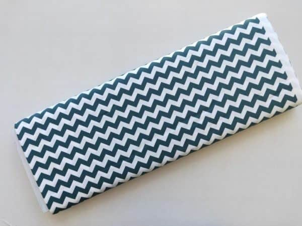 Spots n Stripes - Slate Blue Chevron
