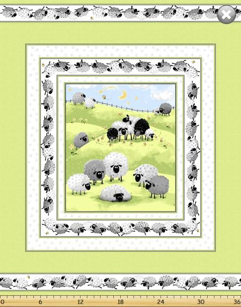 Susybee - Lewe the Ewe Cot Panel