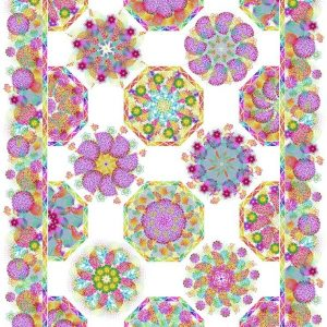 Unusual Garden 2 - Kaleidoscope Quilt Kit - White
