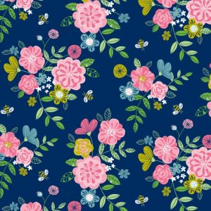 Wildflower Honey - Flowers on Navy