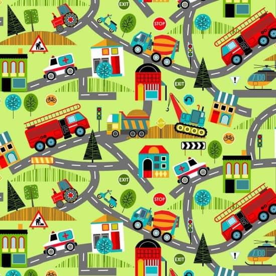 Around Town - Roads on Green