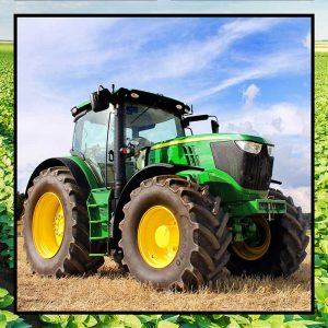 Tractors Green - Panel