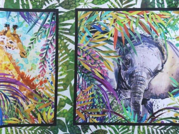 Safari - Large Jungle Animal Panel