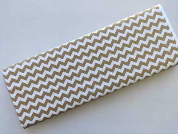 Spots n Stripes - Soft Brown Chevron