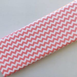 Spots n Stripes - Peach Pink Chevron