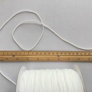 Mask Elastic - 3mm white, 10 metre length