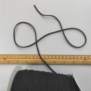 Mask Elastic - 3mm black, 10 metre length