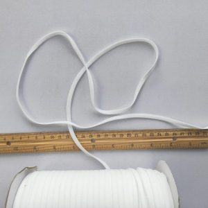 Mask Elastic - 5mm white, 10 metre length