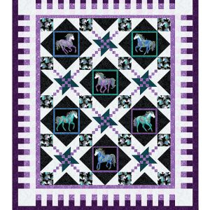 Horsen Around - Large Quilt Kit -Oh My Stars