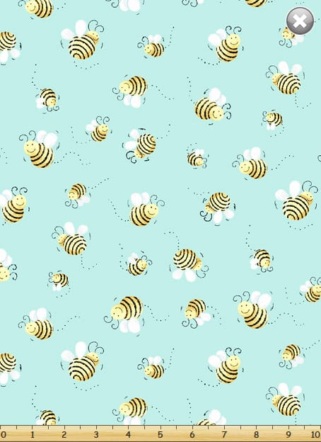 Susybee - Basic Bees on Blue OUT OF STOCK