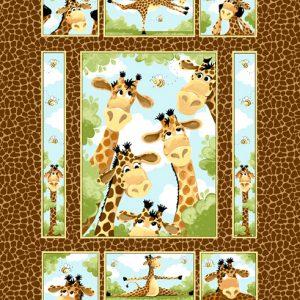 Susybee - Zoe the Giraffe Cot Panel