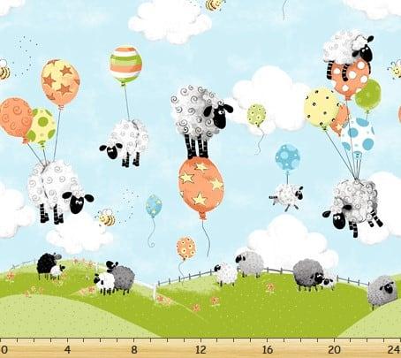 Susybee - Lewe's Balloons Border Print