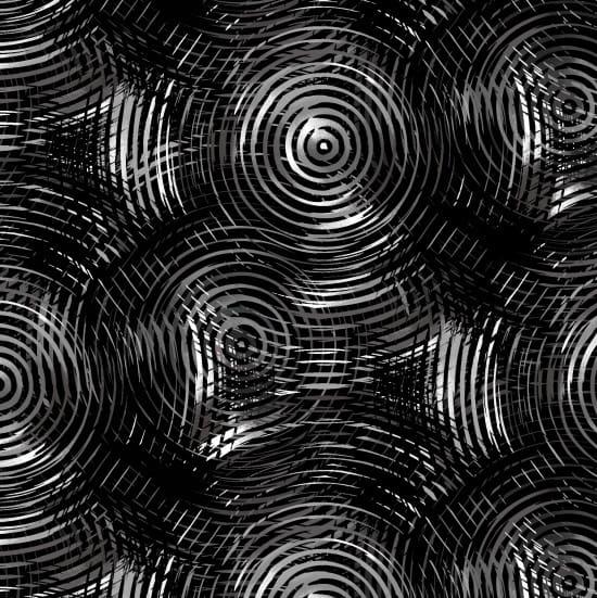 Wide Width Backing - Circle Play Black/Grey